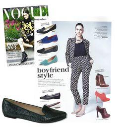 Guilhermina na Mídia - Slipper de phyton na Vogue