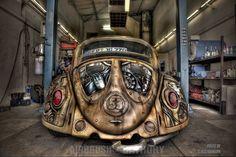 "steampunktendencies: ""  Steampunk Herbie ~ Airbrush Bathory """