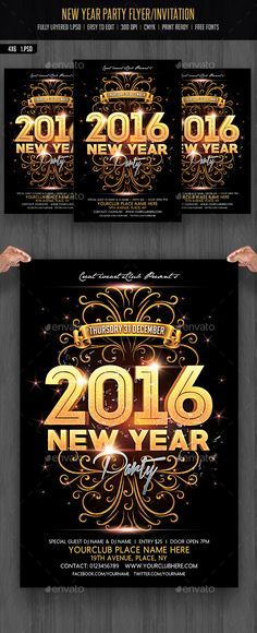 Chinese New Year Flyer Flyer template, Party flyer and Fonts - new year brochure template
