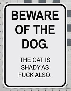 Dog Mural Art, Beware of the Dog Sign, Organic Pet World Art Collectables