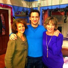 Ben Savage posted  this on Istagram. It's him with his real mom and TV mom.
