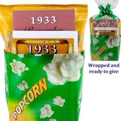 1933 Movie Night Gift Package for 80th Birthday Gift: Amazon.com: Grocery & Gourmet Food