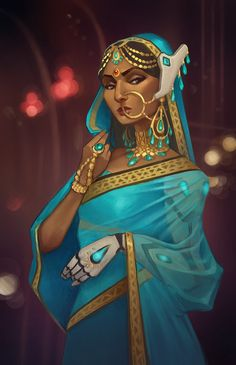 Traditional Symmetra, Mario Manzanares on ArtStation at https://www.artstation.com/artwork/rdPle - More at https://pinterest.com/supergirlsart/ #overwatch #fanart
