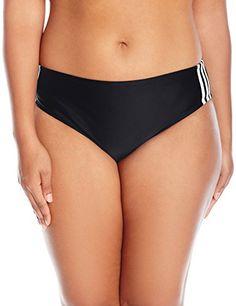 adidas Women's Plus Size Light As a Heather Sport Hipster Bikini Bottom