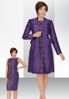 Ben Marc Stacy Adams 78436 Jacket Dress- Two piece taffeta jacket dress features a long sleeve 39 inch jacket and sleeveless 39 inch dress.