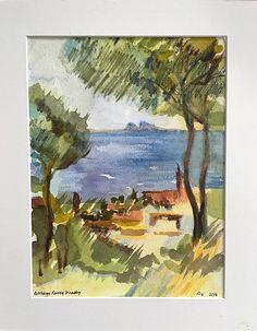L'Estaque II by Bethany Ramey Trombley Watercolor ~  x