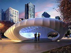 Millenium Park Pavilion (Chicago) - Zaha #Hadid #complexgeometries #temporary