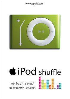 ipod shuffle, cartel publicitario