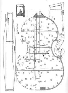 Double Bass Making Plans, Life Size Patterns (Building ...
