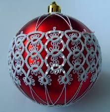 Znalezione obrazy dla zapytania tatted christmas ball variegated thread