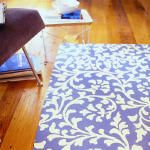 How to make a painted canvas floor mat.