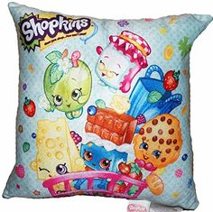 "Shopkins Pillow Season 1 2 3: Kooky Cookie, Cheeky Chocolate, Chee Zee, Apple Blossom (12"" x 12"") Shopkins http://www.amazon.com/dp/B018C3WZVS/ref=cm_sw_r_pi_dp_NOFCwb1HSMVJR"