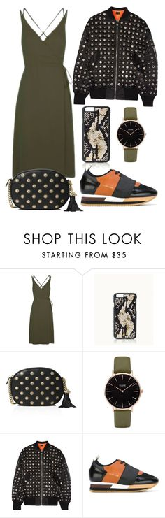 """""""Khaki dress"""" by lachasseauxpapillons ❤ liked on Polyvore featuring Topshop, GiGi New York, MICHAEL Michael Kors, CLUSE, Alexander Wang and Philippe Model"""