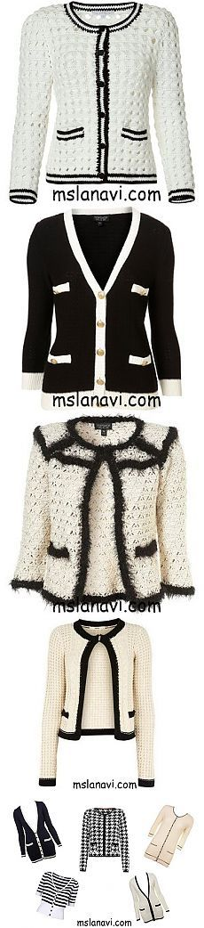 About fashion: How to tie jacket from Chanel?  | Knitting Lana