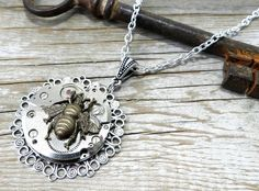 Steampunk Jewelry Steampunk Necklace Larger by CompassRoseDesign, $59.00