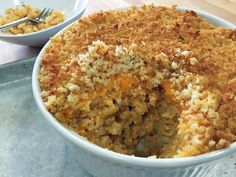 Alton Brown's Mac & Cheese.  ***** ADD:  1 cup panko tossed with 3 TB melted butter for the top.