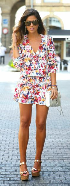 Everyday New Fashion: Flowers Overall by TrendyTaste