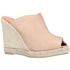 KG by Kurt Geiger Muffin Suede Wedge Heeled Espadrille Sandals , Beige ($145) ❤ liked on Polyvore featuring shoes, sandals, beige, chanel espadrilles, beige sandals, espadrille sandals, blue suede shoes and flat shoes