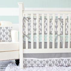 Gray Arrow Baby Bedding   Caden Lane