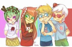 Homestuck- Trickster kids. Trickster mode scares me and i don't like it, but this is cute. =D
