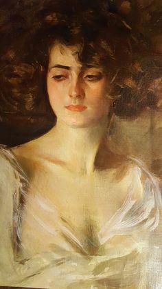 Ramon Casas i Carbó - Julia, 1908 Spanish Painters, Spanish Artists, Ramones, Master Studies, Amazing Paintings, Location History, Art Reference, Mona Lisa, Portrait