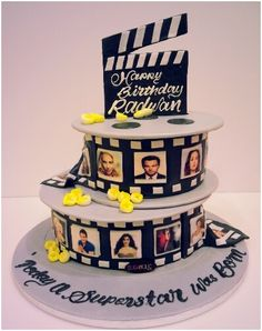 Movie reel cake www.facebook.com/Sugaholic.Cakes