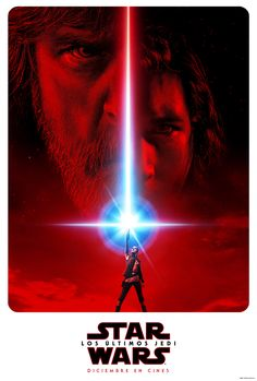Here's the first poster of Star Wars: The Last Jedi. The film stars Daisy Ridley, Mark Hamill, John Boyega, Adam Driver, Carrie Fisher and more. - Star Wars: The Last Jedi first poster - Rey is Luke Skywalker's only hope to defeat Kylo Ren Star Wars Film, Star Wars Poster, Ver Star Wars, Star Wars Watch, Star Wars Art, Movies And Series, Hd Movies, Movie Film, Movies Online
