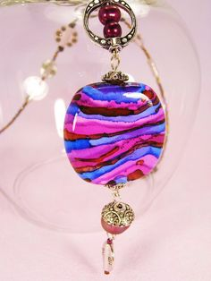 Alcohol Ink Focal Bead by DebbieCrothers, via Flickr