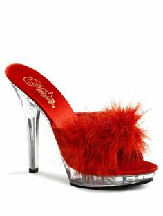 Details About Pleaser Womens Sexy Black Marabou Feather Slippers High Heels Evening Shoes