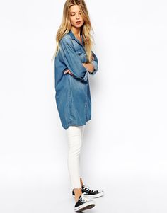 Boyfriend Denim Shirt love it But not the price $61.91 lets see if i can fine it cheaper......