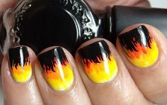 Nails on fire!