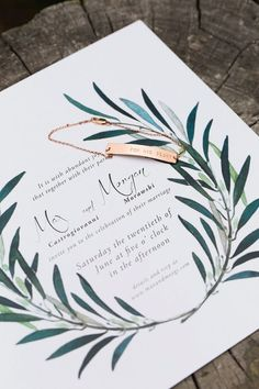 garden wedding invitation - photo by Julia Elizabeth Photography http://ruffledblog.com/italian-inspired-backyard-wedding