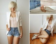 Zara Blazer, Levi's® Vintage Shorts, Zara 'Oxford' Shoes - AGAIN PLEASE. - Sietske L