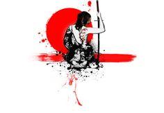 Trash Polka - Female Samurai  Artwork