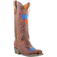 Gameday SMU Mustangs Cowboy Boots - Brown