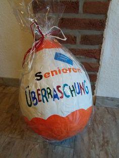 ❤ Senioren Überraschung ❤     Kinder Überraschung mal ganz anders.     Viele haben bereits Ostereier, Schalen u.v.m   aus Ballons und Klei...
