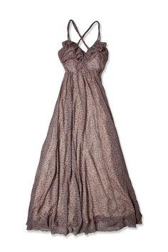 Printed Lace & Ruffle Maxi Dress // Costa Blanca    THAT DRESS!