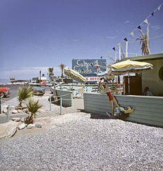 Salton City, California - 1962 by Brad Smith Salton Sea California, Southern California, Indio California, Cities, Bullhead City, Desert Life, Coachella Valley, Strange Places, Neon