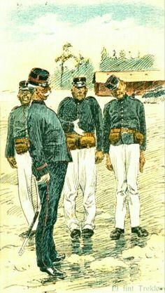 Andreas Bloch  humorkort. militærserie utgitt av Mittet postgått 1907,