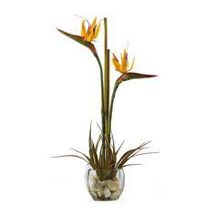 Silk Christmas Flower Arrangement Ideas | Artificial Florals > Silk Arrangements > Bird of Paradise Silk Flower ...