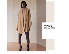 Tonal mix: contemporary clothing from Vince and more.
