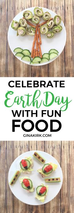 Celebrate Earth Day with Fun Food! - Holiday and Party Fun - Celebrate Earth Day with fun food Earth Day Projects, Earth Day Crafts, Earth Day Activities, Spring Activities, Baby Activities, Holiday Activities, Food Art For Kids, Healthy Snacks, Healthy Recipes