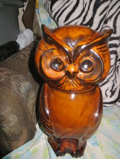 Hey, I found this really awesome Etsy listing at https://www.etsy.com/listing/244319108/1970-large-12-in-owl-cookie-jar-holiday