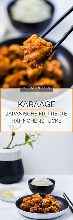 Kennst du schon Karaage? Hier findest du das Rezept für einen echten japanischen Hähnchen Klassiker. Leckere japanische frittierte Hähnchenstücke. Super saftig und knusprig. Einfach yummy!