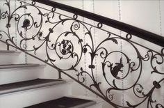 SABIN ESTATE WROUGHT IRON GRAND STAIRCASE, C.1919, : Lot 538A. I spy a bunny...