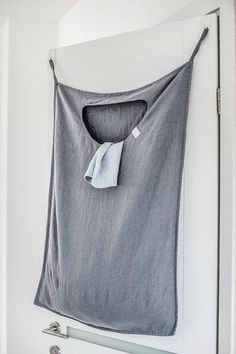 Hanging linen laundry bag in dark grey/graphite Hanging linen laundry bag. – washed, soft and has natural wrinkles; -easy Washed and handcraftedColor-coded laundry bag,Foldable laundry basket 10 Astuces Camping-car, Camper Life, Car Camper, Popup Camper, Remodeled Campers, Rv Living, Van Life, Clothes, Laundry Closet