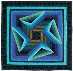 Featured in the May/June 2010 Issue of Love of Quilting, this free quilt pattern features a unique illusion that will keep you staring for hours. Finished