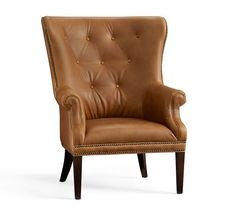 Hatton Leather Armchair, Polyester Wrapped Cushions, Toffee