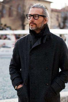 Beard, glasses