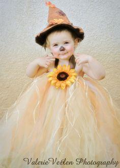 Girl Scarecrow Tutu Dress Costume for Halloween by ValerieVeb on Etsy, $65.00